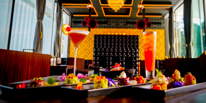 Nikkei cuisine and signature cocktails from Level One in Layan, Phuket, Thailand
