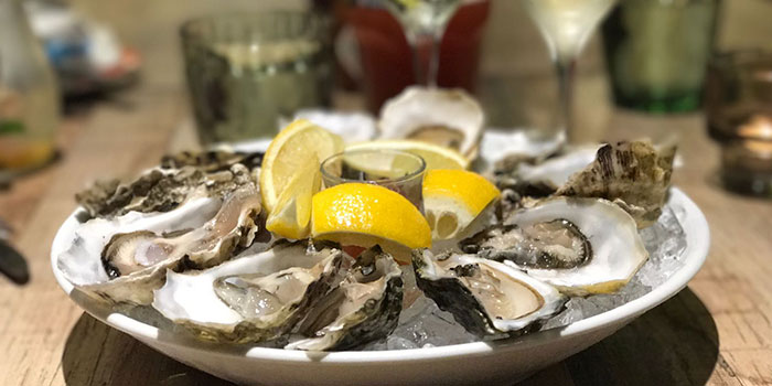Oysters from Bodacious at Biopolis in Bouna Vista, Singapore
