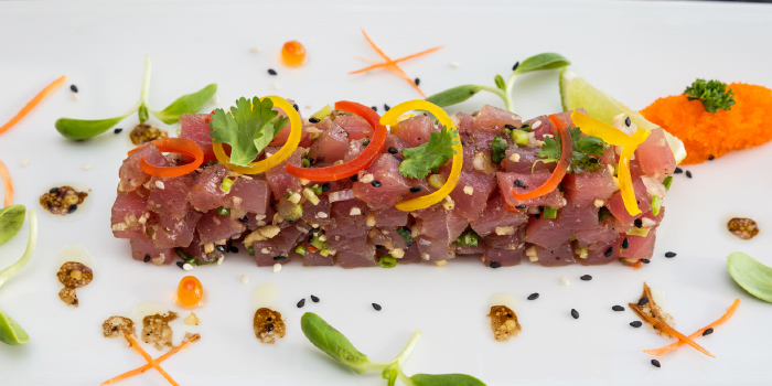 Poke Tuna Saku from White Box Restaurant in Patong, Kathu, Phuket, Thailand