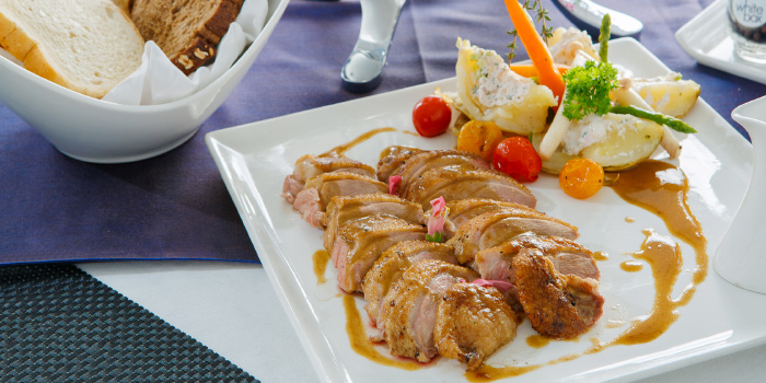 Pressed whole duck from White Box Restaurant in Patong, Kathu, Phuket, Thailand