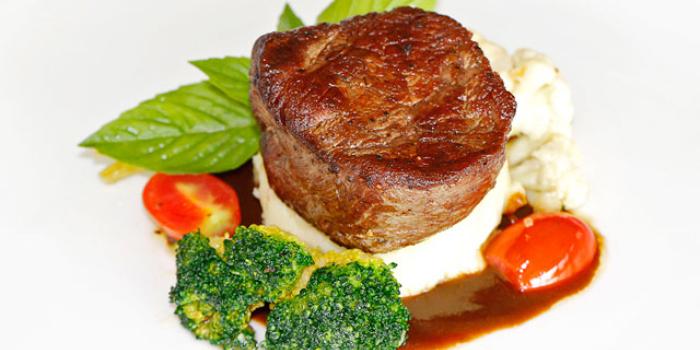 Roasted Australian Grain Feb Tenderloin Steak with Green Pepper Sauce from KEE Sky Lounge in Patong, Phuket, Thailand