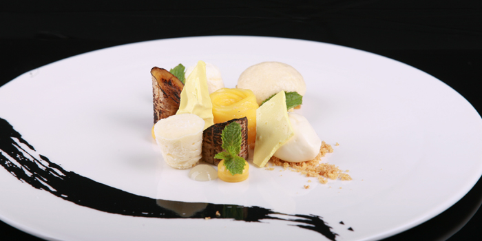 Roasted Banana With Lime, Honey And Mango from The Reflexions at Plaza Athénée Bangkok, A Royal Meridien Hotel, Bangkok