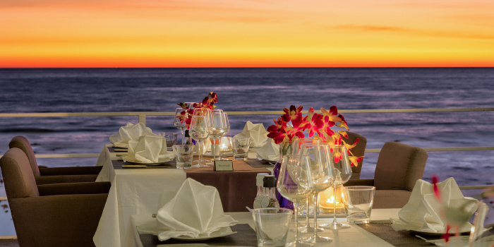 Romantic Dinner at Sunset of White Box Restaurant in Patong, Kathu, Phuket, Thailand