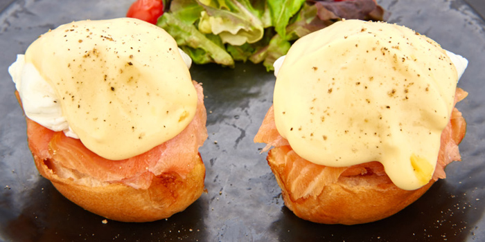 Salmon Eggs Benedict from D