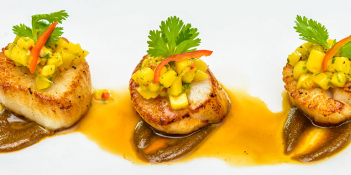 Sea Scallop with Black Pepper Sauce from KEE Sky Lounge in Patong, Phuket, Thailand