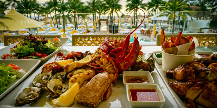 Seafood Platter from Level One in Layan, Phuket, Thailand