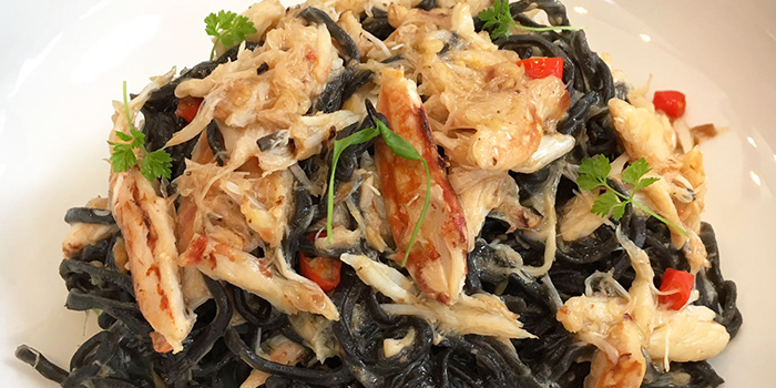 Squid Ink Crab Meat Pasta from Strong Flour in East Coast, Singapore