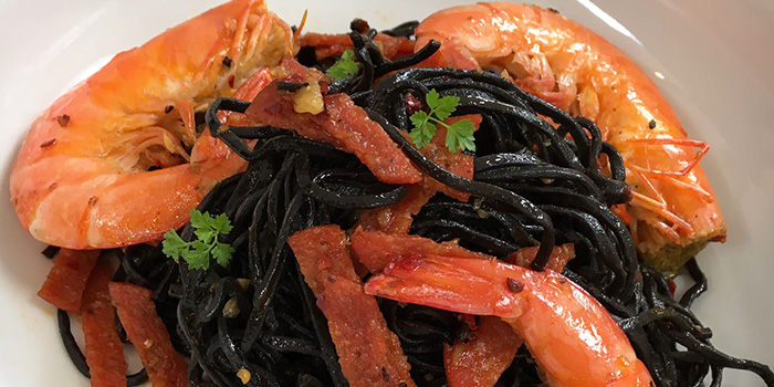 Squid Ink Prawn Pasta from Strong Flour in East Coast, Singapore