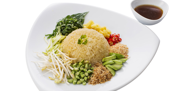 Thai Southern Spicy Rice Salad with Vegetables from Tumrhap Phuket & Southern Restaurant in Maung, Phuket, Thailand