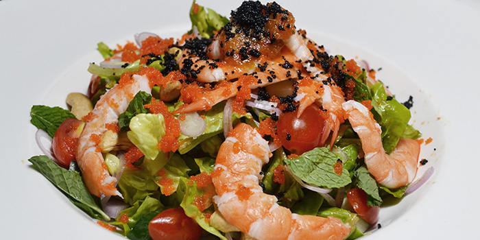 Spicy Prawn Salad from The Bank Bar + Bistro in Marina Bay, Singapore