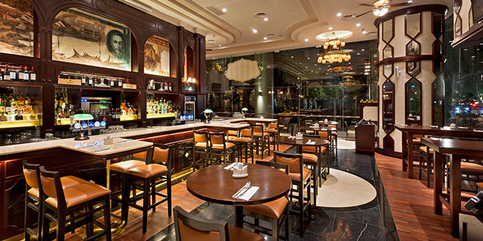 Interior of The Bank Bar + Bistro in Marina Bay, Singapore