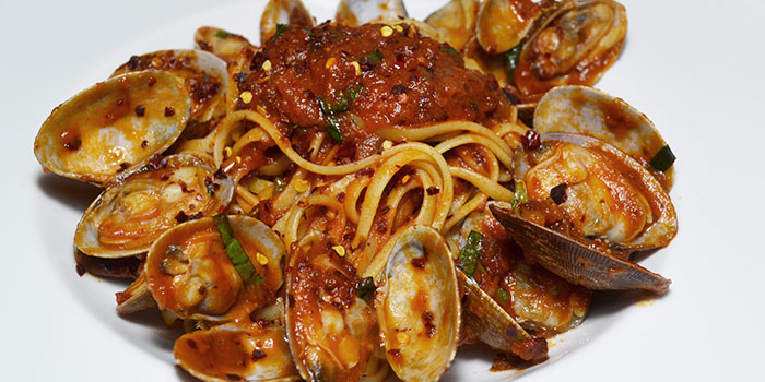 Seafood Pasta from The Bank Bar + Bistro in Marina Bay, Singapore