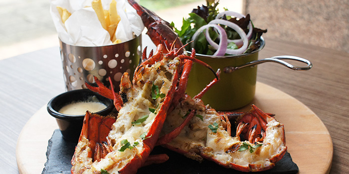 Lobster and Fries from The Wallich.Grill.Bar.Lounge in Tanjong Pagar, Singapore