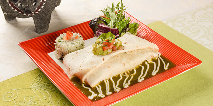 Burrito from Viva Mexico at Cuppage Terrace in Dhoby Ghaut, Singapore