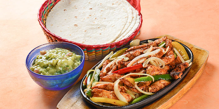 Chicken Fajitas from Viva Mexico at Cuppage Terrace in Dhoby Ghaut, Singapore