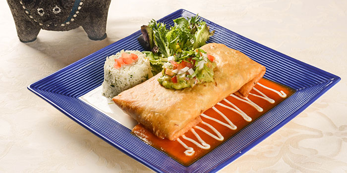 Chimichanga from Viva Mexico at Cuppage Terrace in Dhoby Ghaut, Singapore