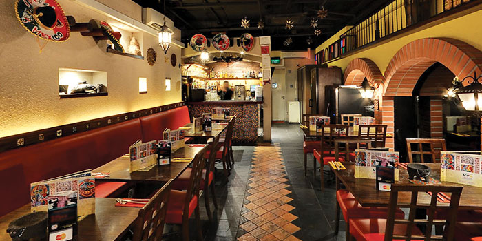 Interior of Viva Mexico at Cuppage Terrace in Dhoby Ghaut, Singapore