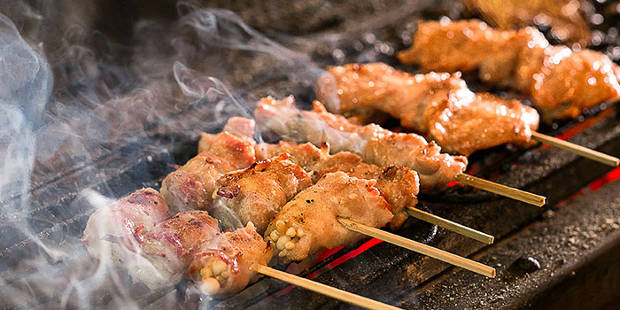 Charcoal Grill from Yamazaki Japanese Restaurant in One Fullerton in Raffles Place, Singapore
