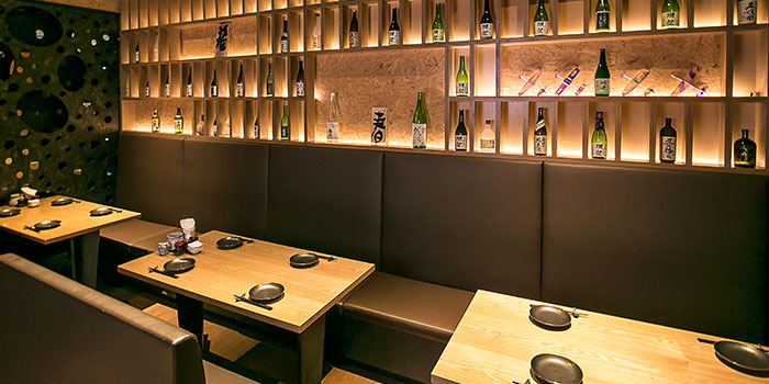 Private Dining Area of Yamazaki Japanese Restaurant in One Fullerton in Raffles Place, Singapore