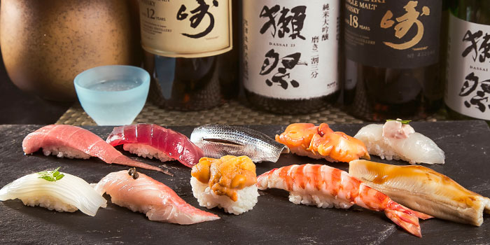 Sushi Platter from Yamazaki Japanese Restaurant in One Fullerton in Raffles Place, Singapore