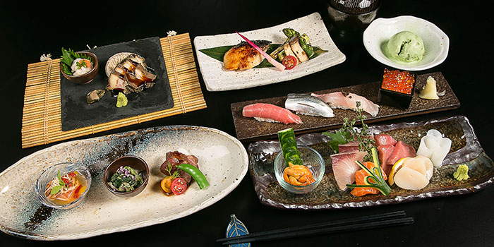 Tskukiji Omakase Course from Yamazaki Japanese Restaurant in One Fullerton in Raffles Place, Singapore