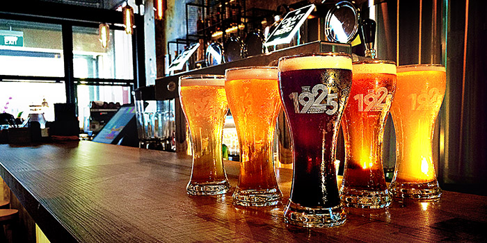 Beers from The 1925 Brewing Co. Restaurant in Jalan Besar, Singapore