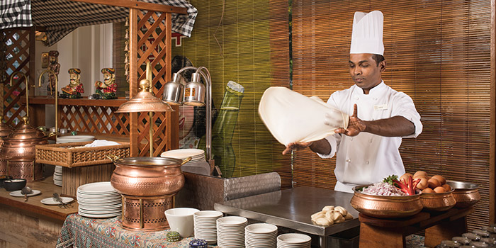 Prata Station from Asian Market Cafe at Fairmont Singapore in City Hall, Singapore