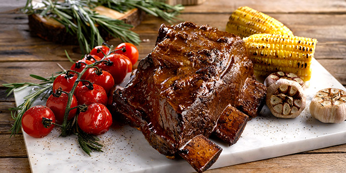 BBQ Grain-fed Beef Rib from Azur in Crowne Plaza Changi Airport in Changi, Singapore