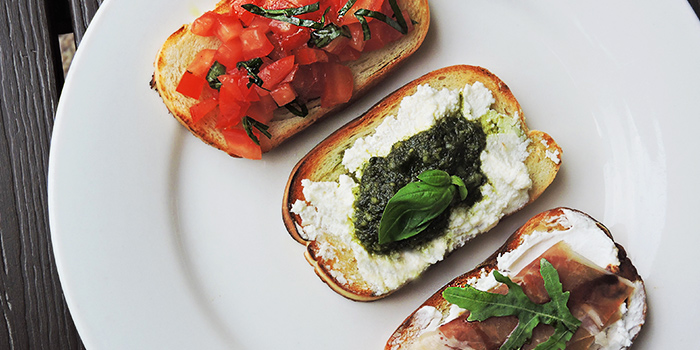 Bruschetta Trio from Bella Pizza in Robertson Quay, Singapore