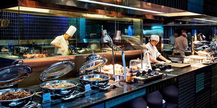 Buffet Area of Azur in Crowne Plaza Changi Airport in Changi, Singapore