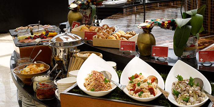 Food Spread from Cafe Swiss in Swissotel The Stamford, Singapore
