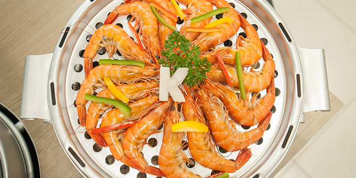 Prawns from Captain K Seafood Tower (Prinsep Street) at Income@Prinsep in Dhoby Ghaut, Singapore
