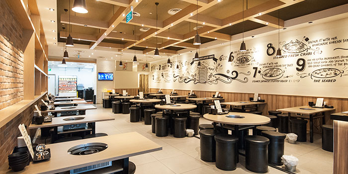 Interior of Captain K Seafood Tower (Prinsep Street) at Income@Prinsep in Dhoby Ghaut, Singapore