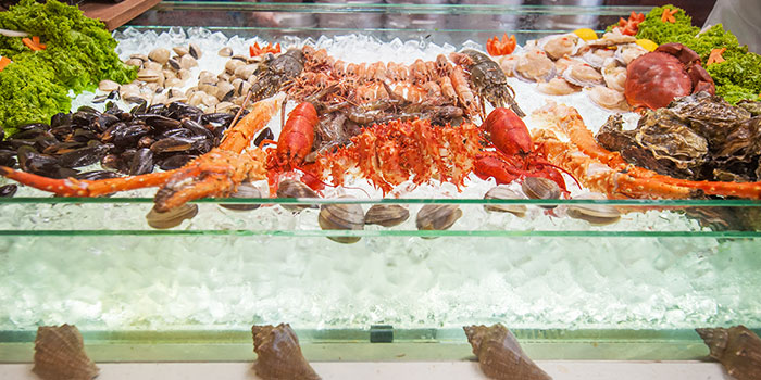 Seafood Spread from Captain K Seafood Tower (Middle Road) at Midland House in Bugis, Singapore