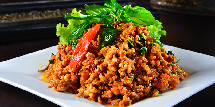 Basil Leaf Spicy Minced Chicken from Central Thai at Changi Airport Terminal 2 in Changi, Singapore