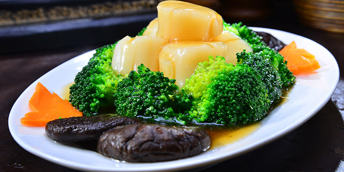 Brocolli with Scallop from Central Thai at Changi Airport Terminal 2 in Changi, Singapore