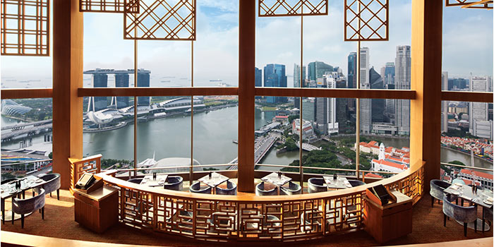 Dining Area of Equinox Restaurant in Swissotel The Stamford, Singapore