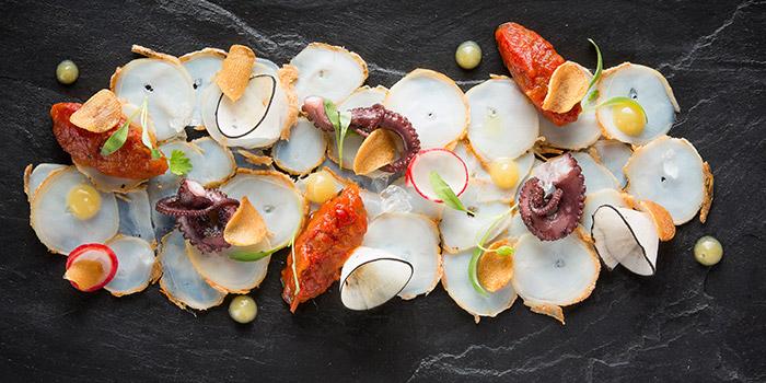 Octopus Carpaccio from Equinox Restaurant in Swissotel The Stamford, Singapore