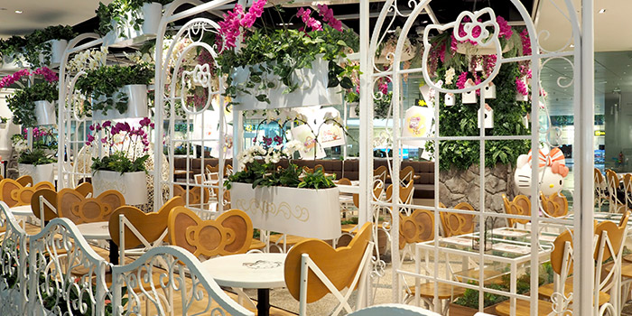 Interior of Hello Kitty Orchid Garden at Changi Airport Terminal 3 in Changi, Singapore