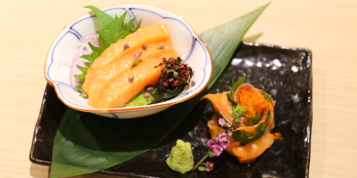 Salmon Sashimi from Inaniwa Yosuke in Wisma Atria Shopping Centre in Orchard Road, Singapore