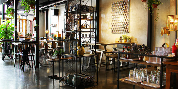 Dining Area of Knots Cafe and Living at Orion@PayaLebar in Paya Lebar, Singapore
