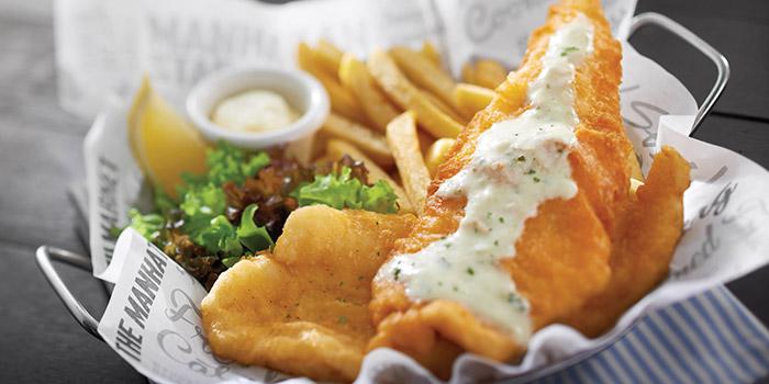Fish & Chips from Manhattan Fish Market (Changi Airport T1) in Changi, Singapore