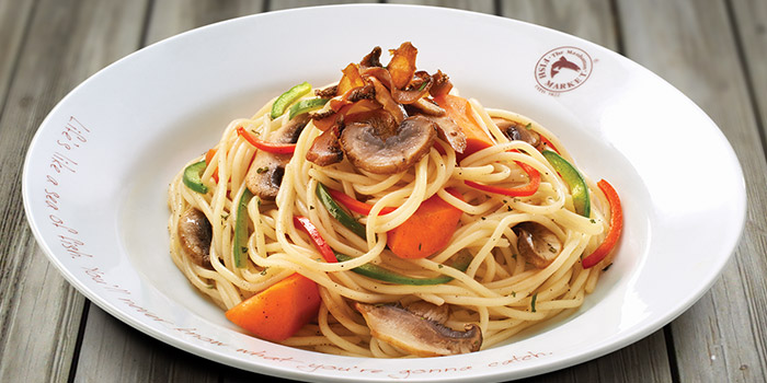 Pasta from Manhattan Fish Market (Changi Airport T1) in Changi, Singapore