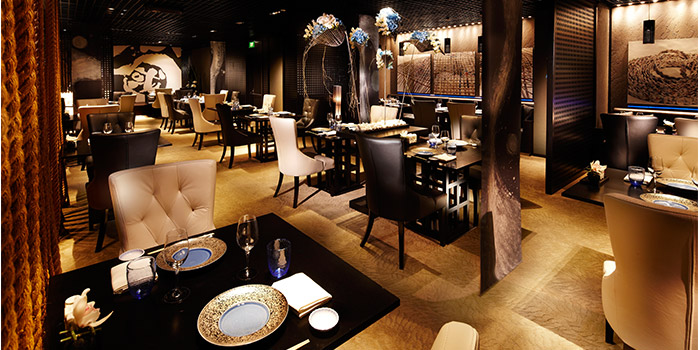 Main Dining Area of Mikuni in Fairmont Singapore, Singapore