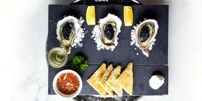 Oyster And Carvier Pearls from The Dock at The Maze Thonglor, Bangkok
