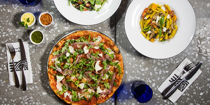 Food Spread from PizzaExpress (Scotts Square) in Orchard, Singapore