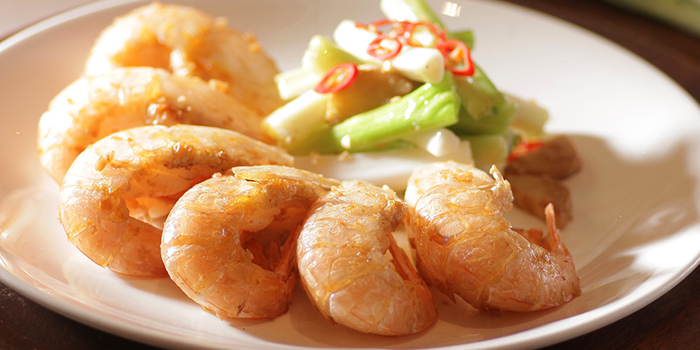 Pan-fried Prawns in Soy Sauce, Loong Yuen Cantonese Restaurant, Tsim Sha Tsui, Hong Kong