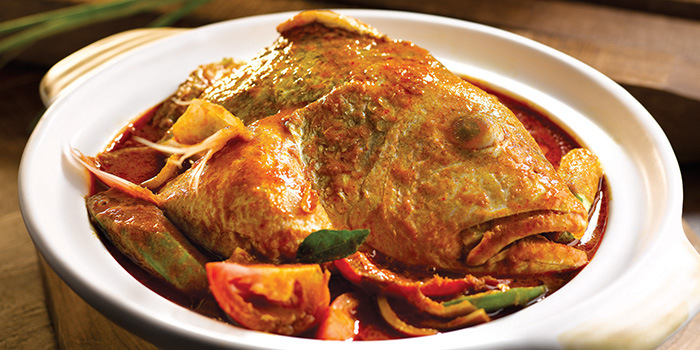 Assam Curry Fish Head from Penang Culture (Changi Airport T2) in Changi, Singapore