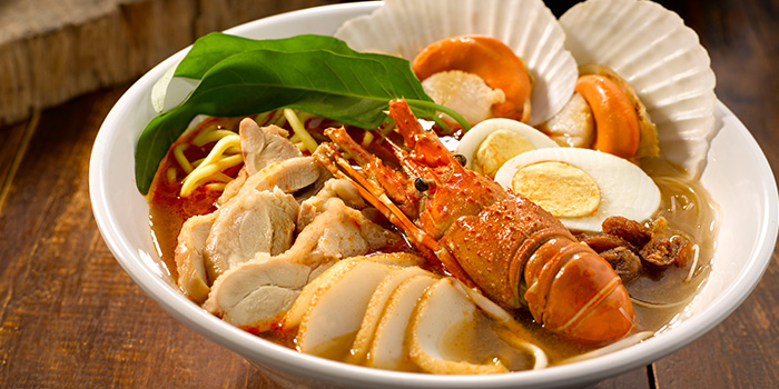 Premium Lobster and Scallop Prawn Noodles from Penang Culture (Changi Airport T2) in Changi, Singapore