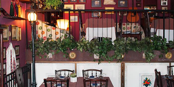 Interior of Porta Porta Italian Restaurant in Changi, Singapore